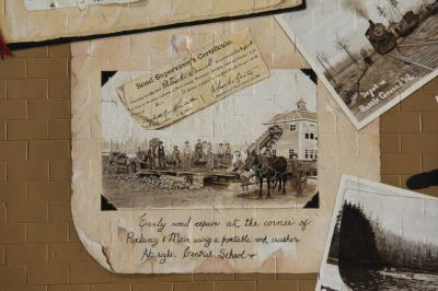 A close-up of the scrapbook page.