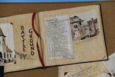 Another close-up.  The size of this scrapbook is 10'x20'.