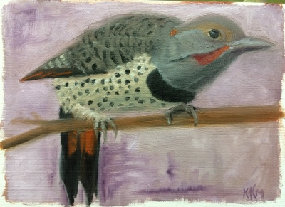 F is for Flicker_painted 10_31_15