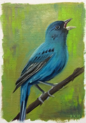I is for Indigo Bunting
