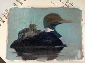 L is for Loon_started 10_23