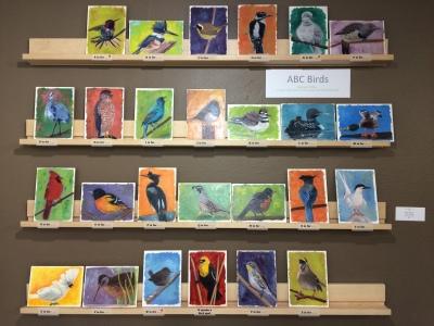 Alphabet Birds all lined up